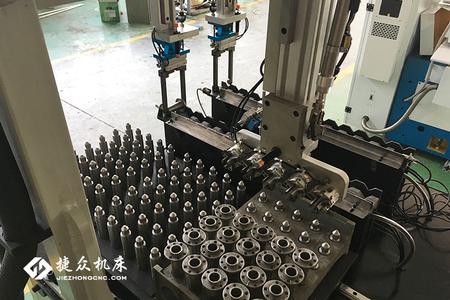 无心磨床组合机械手-捷众机床自动化