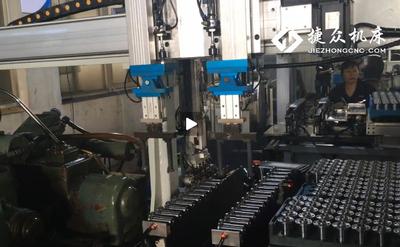 无心磨床组合机械手视频